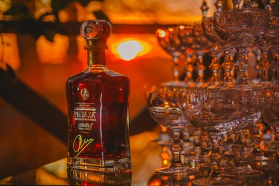 Metaxa Tequila detail shot - VIP party Chateau Mcely