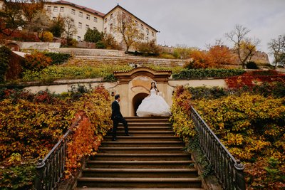 Beautiful Autumn pictures Royal Garden Prague