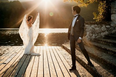 Best of Lake Bled Wedding photos - Angelic Bride