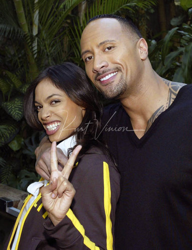 Rosario Dawson & Dwayne 'The Rock' Johnson PR in Berlin