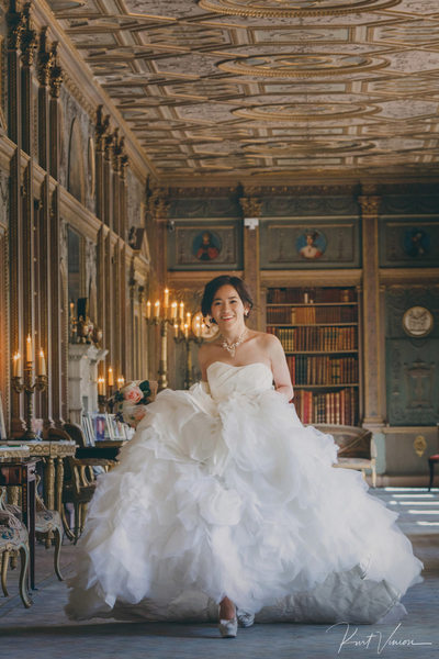 Sherri before her wedding at the Syon House in London