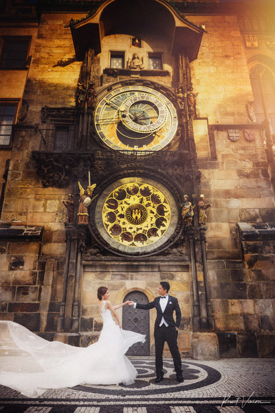 dancing under Astronomical Clock