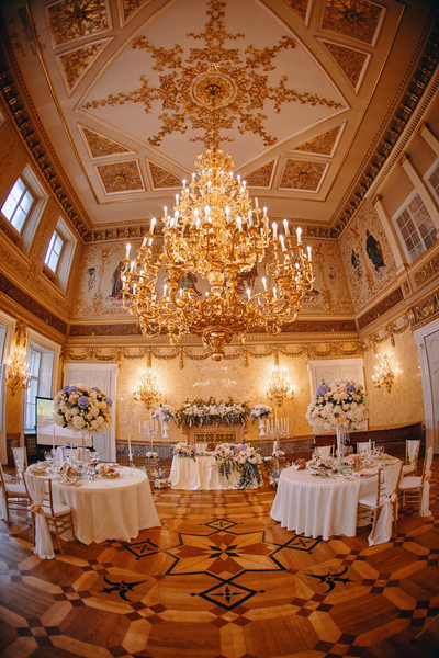 The bride & groom's table at the Kaunicky Palace