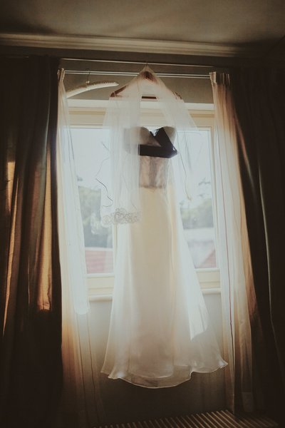 wedding dress Aria Hotel