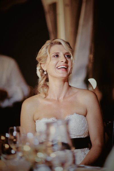 smiling bride - Vila Richter wedding celebration