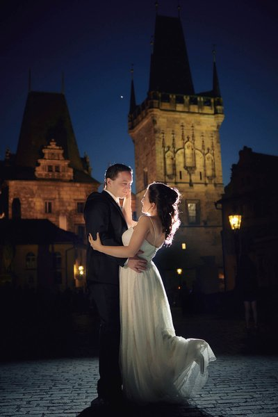 Anat & Kfir - Charles Bridge wedding day photos