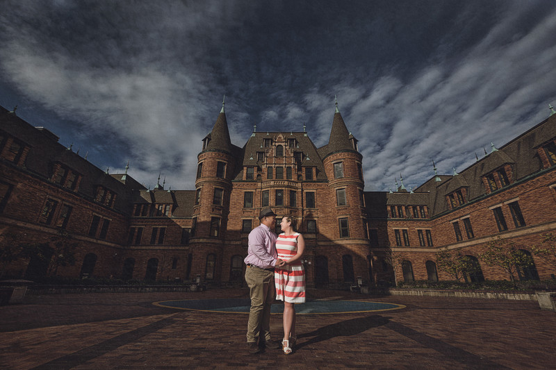 Tacoma Castle Engagement Photo