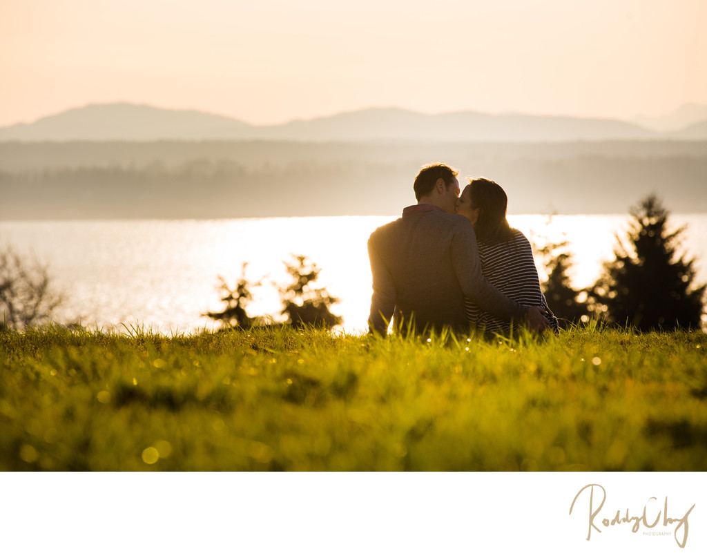 Sunset Engagement Session Couple