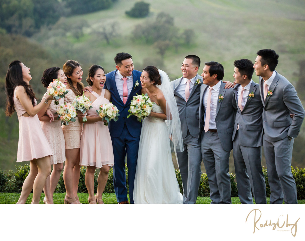 Destination California Wedding Bridal Party