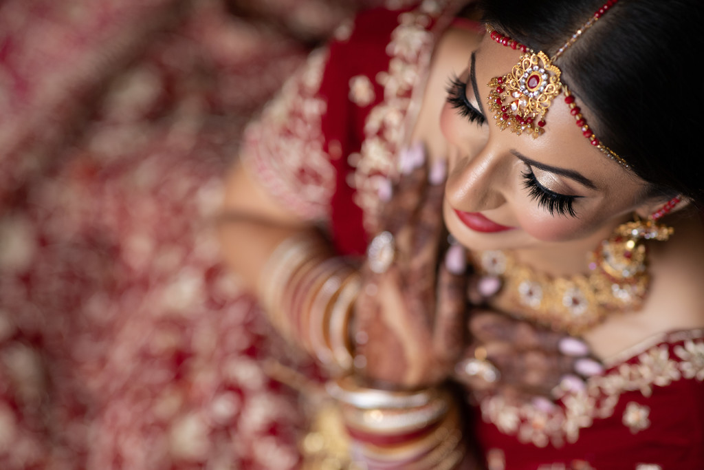 Indian Bridal Portrait at Newcastle Golf Club