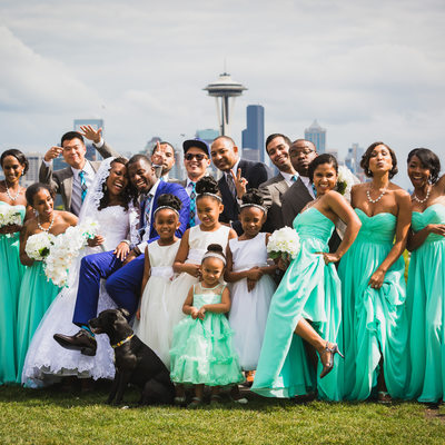 Kerry Park Wedding Party Picture