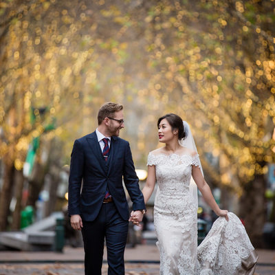 Pioneer Square Seattle Winter Wedding