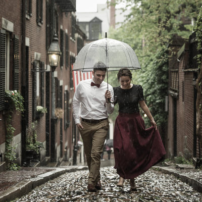 Beacon Hill Engagement Picture in Boston