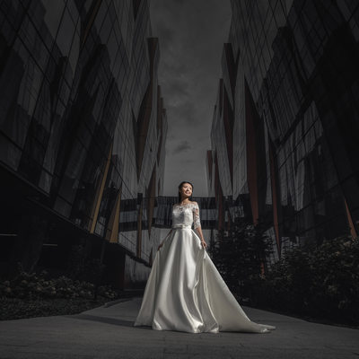 Fine Art Dramatic Bridal Portrait