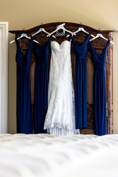 Bridal Party and Wedding Dress