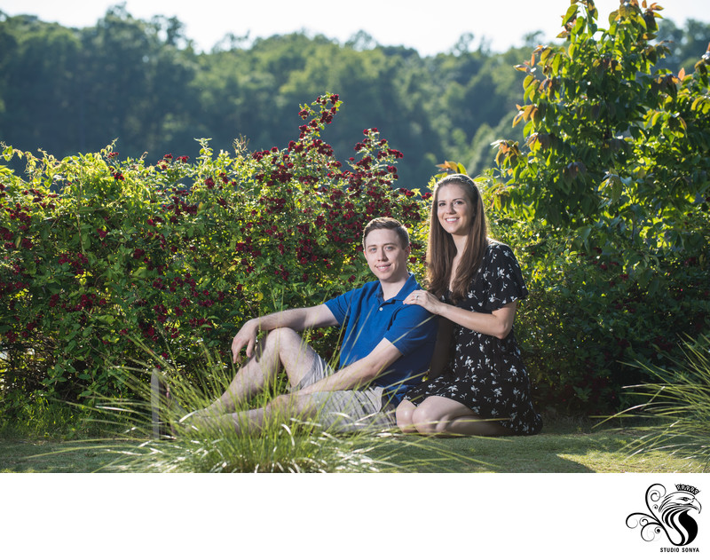 Engagement Session at Historic Yates Mill County Park