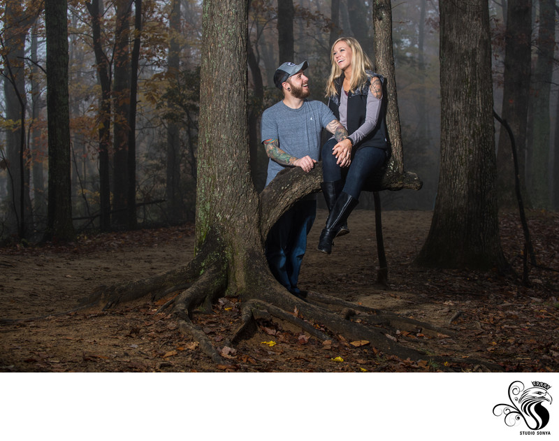 Engagement Session at Hanging Rock State Park