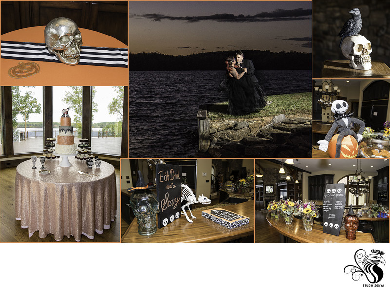 Halloween Theme Wedding at Bella Collina Mansion