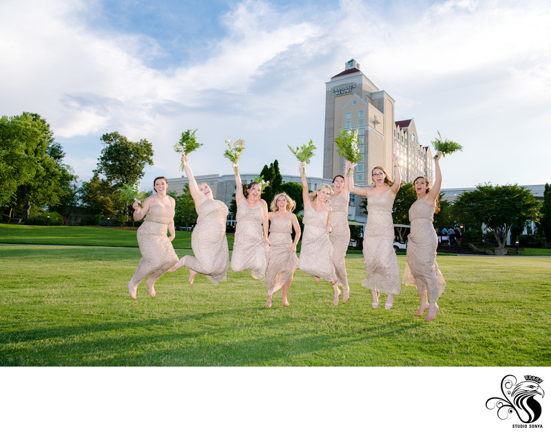 Bridesmaids at Grandover Resort Wedding