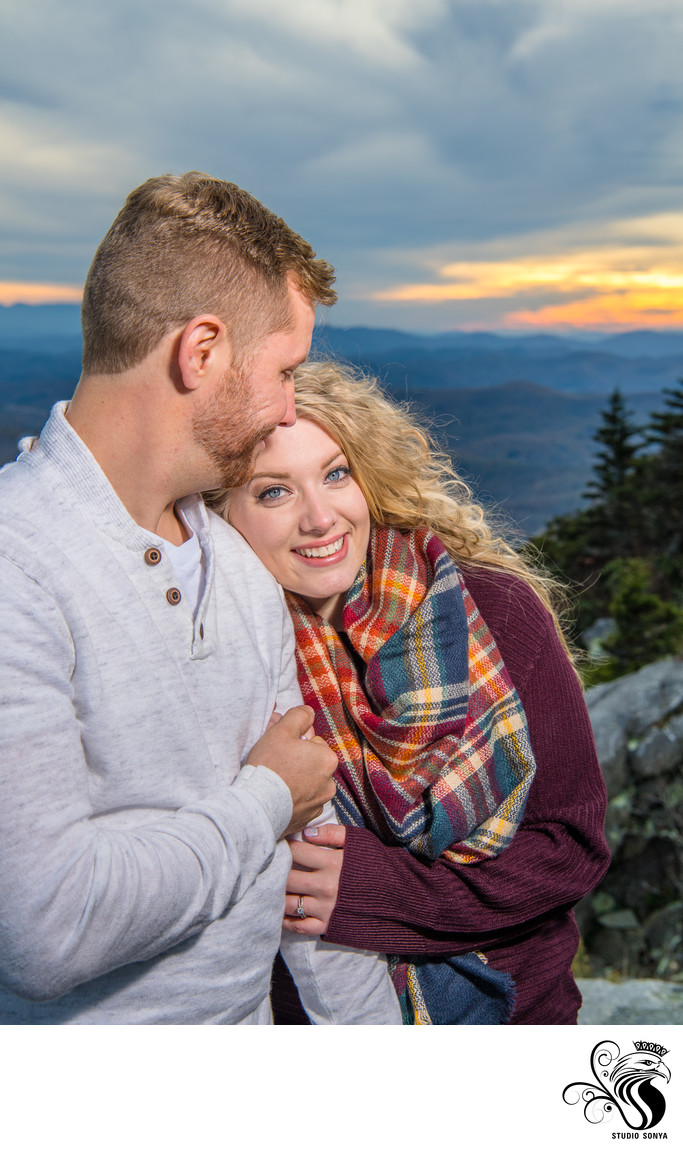 Engaged Couple at Grandfather Mountain