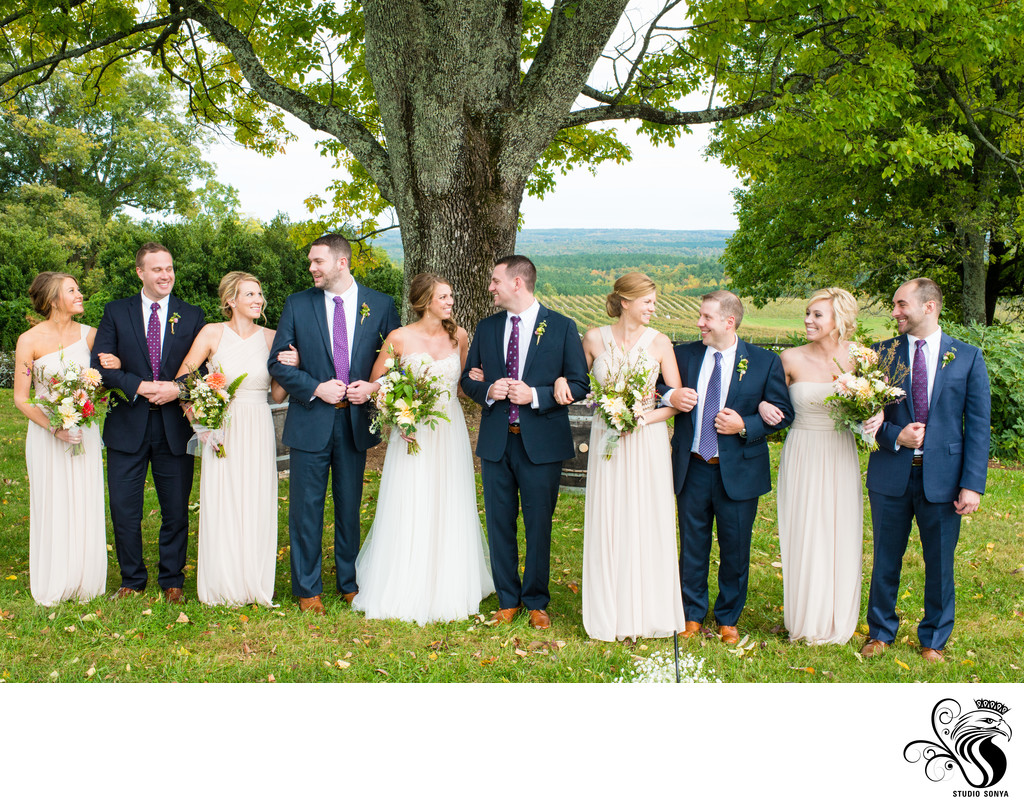 Bridal Party at Blenheim Vineyards