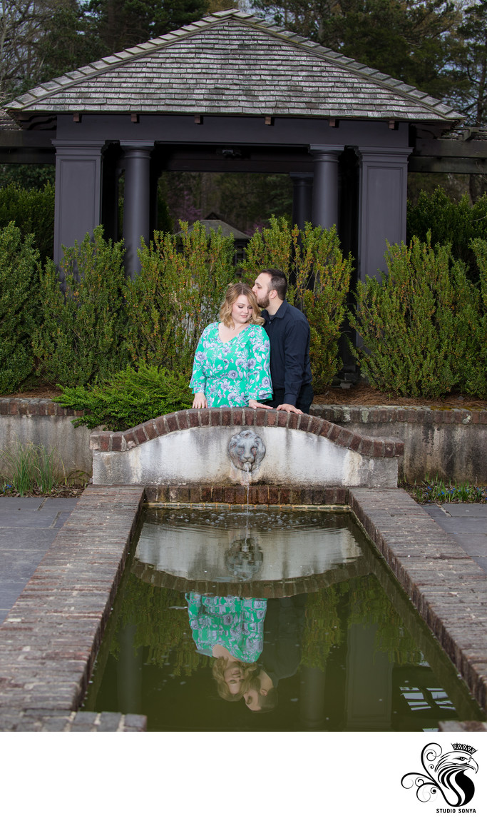 Reynolda Gardens Winston Salem Engagement Session