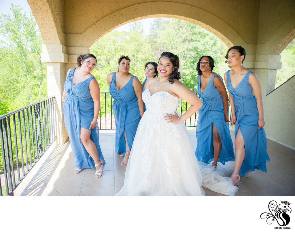 Bride with her Best Friends