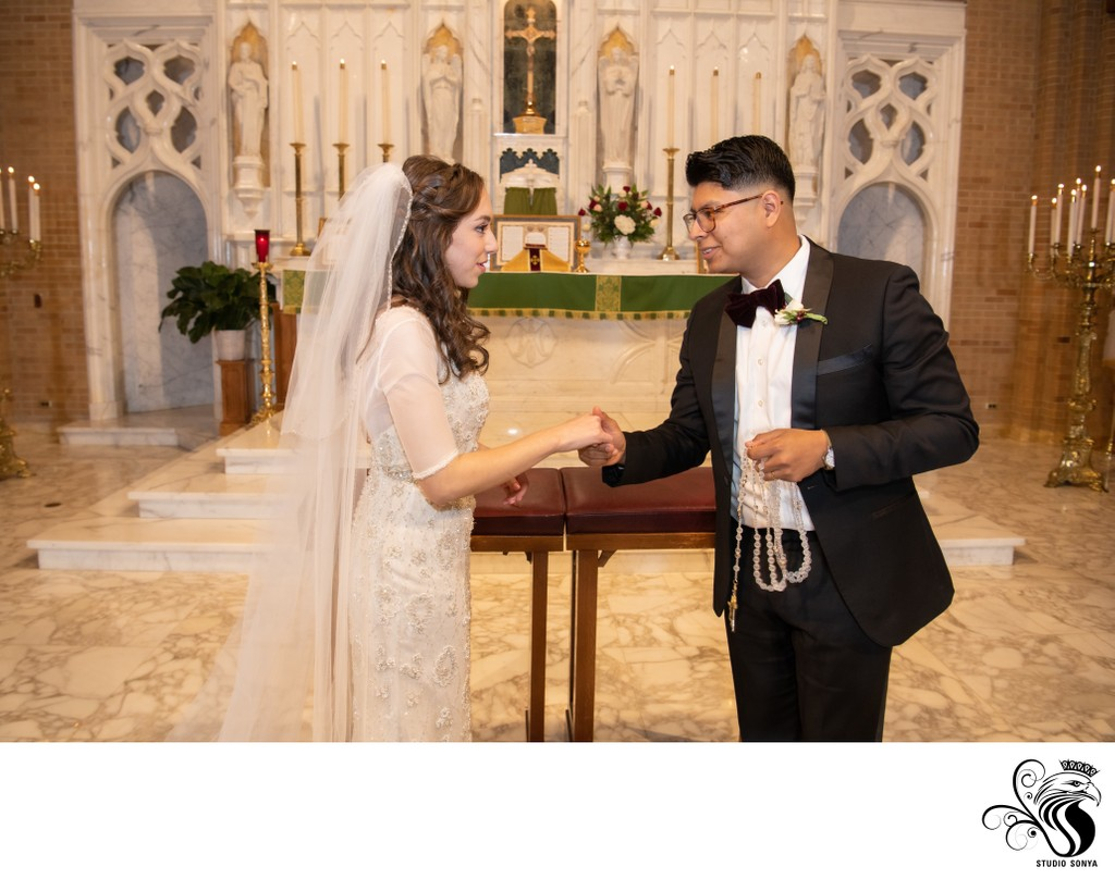 Wedding ceremony at Catholic Church