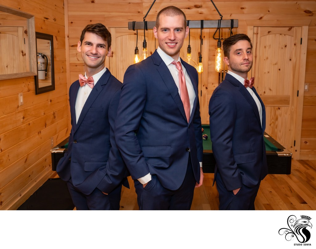 Groom and Groomsmen in Tennessee