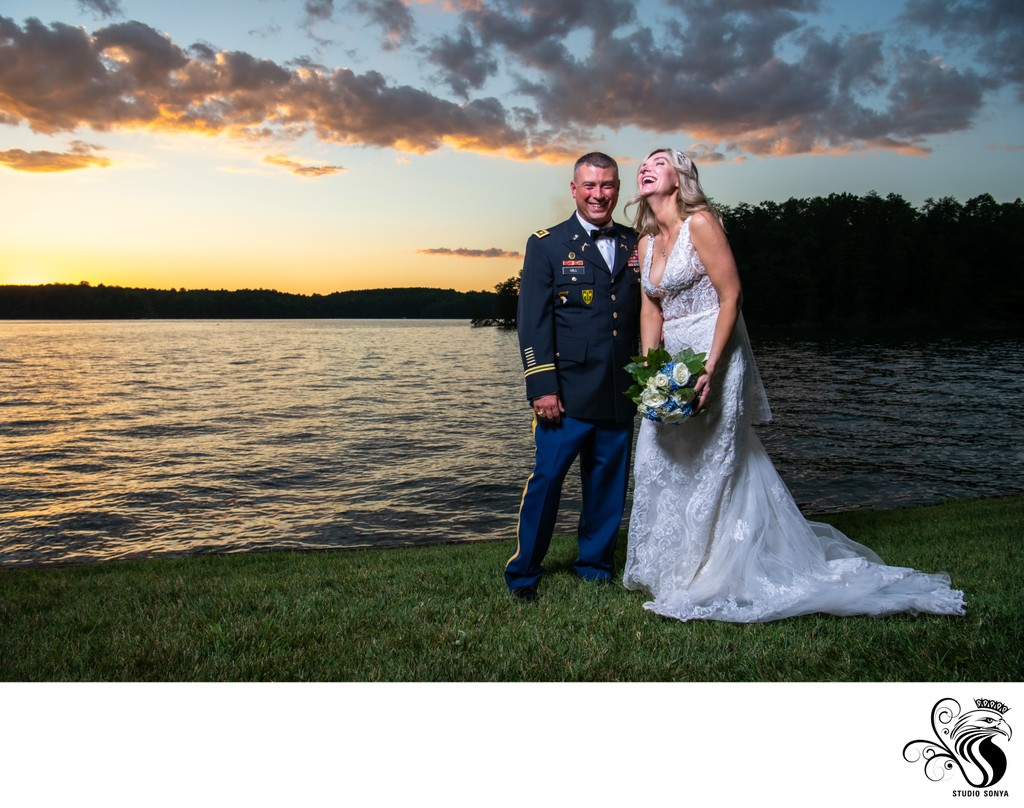 Veteran and his beautiful Bride