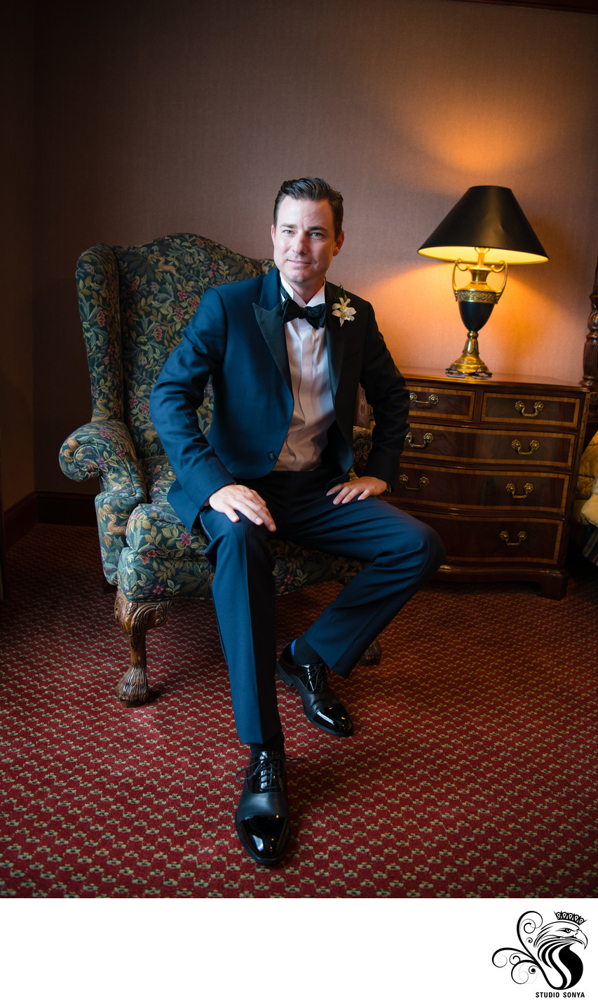 Groom at Grandover Resort in Greensboro