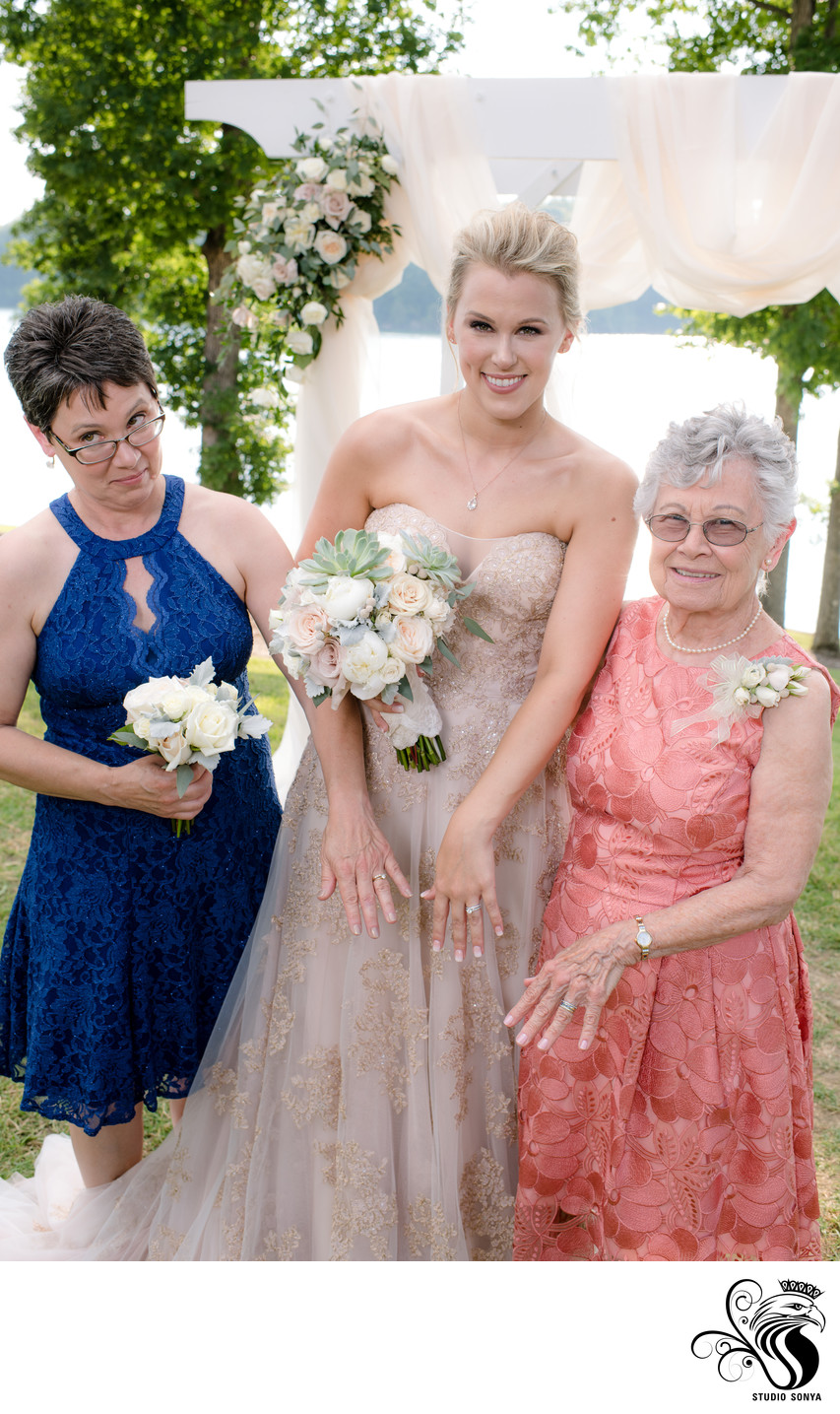 Bride with Mother and Grandma