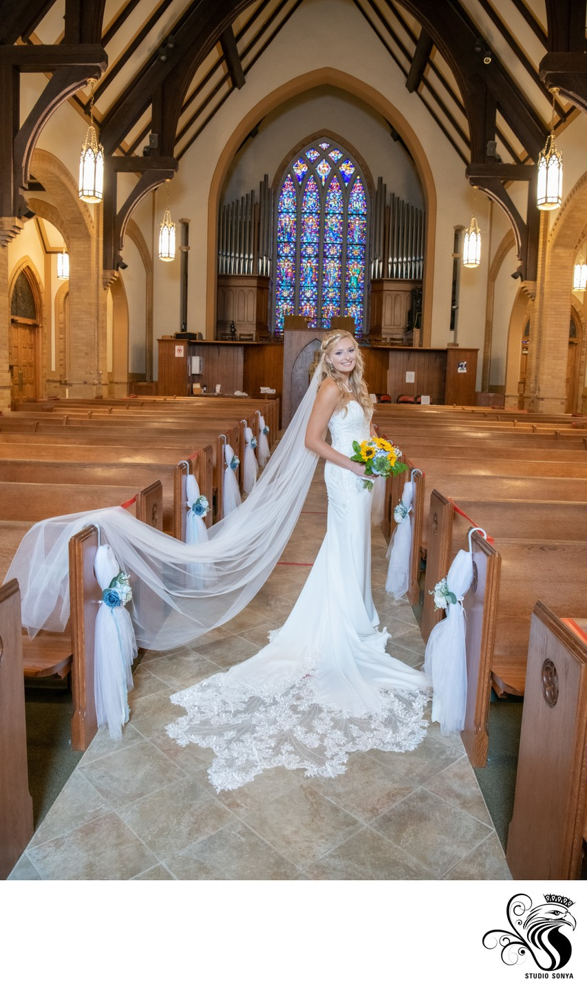 Bride in Catholic Church
