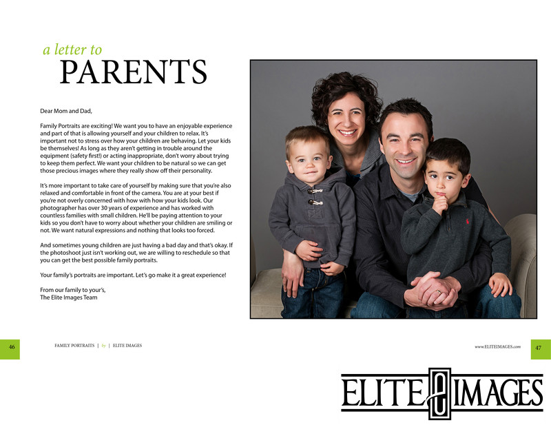 Letter to Parents for Family Portraits