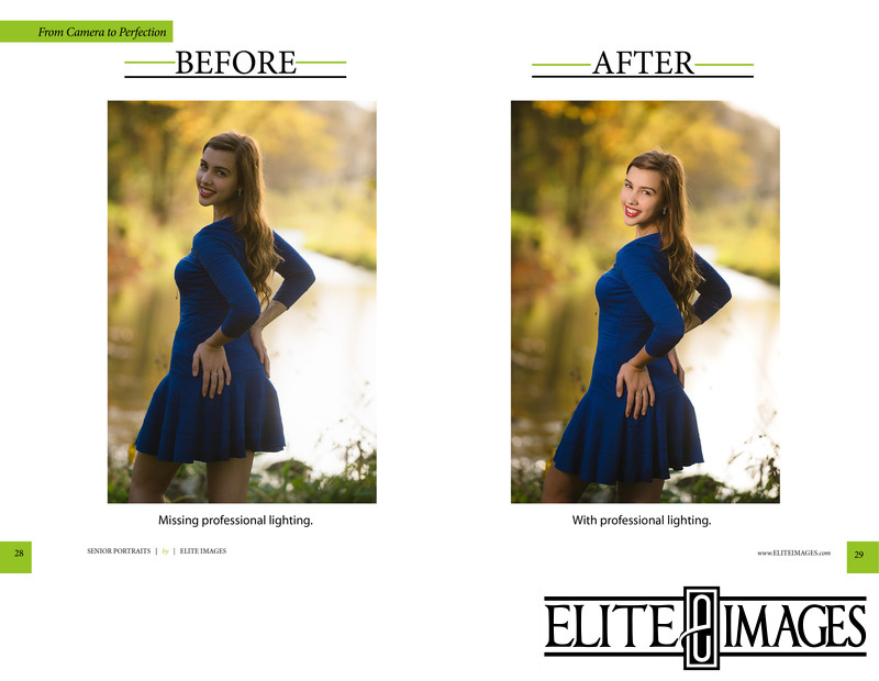 Professional Photography Lighting Before and Afters