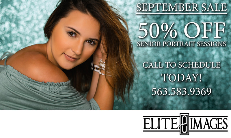 September Senior Portrait Sale Dubuque