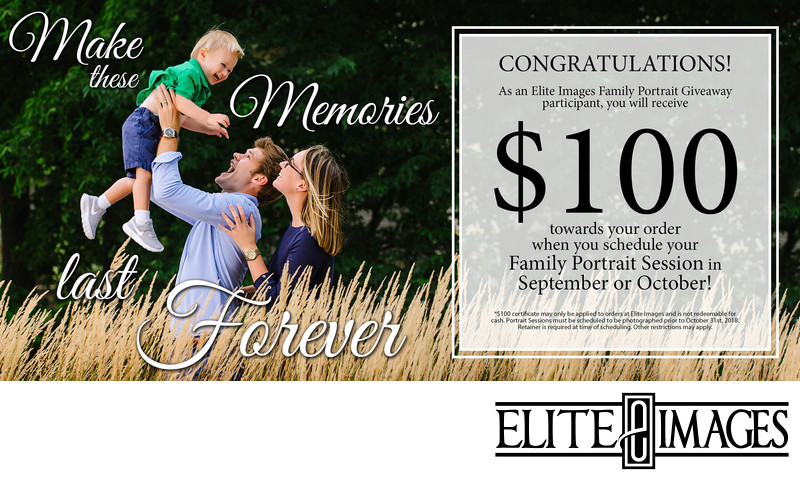 $100 off of family portraits