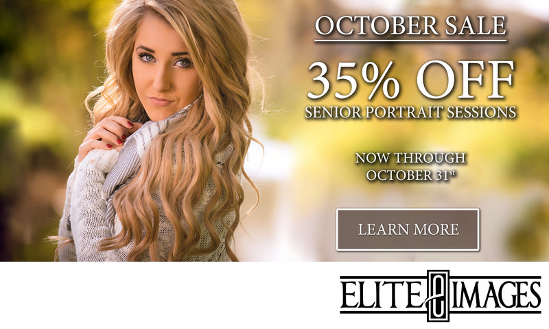 30% off of senior portraits in October