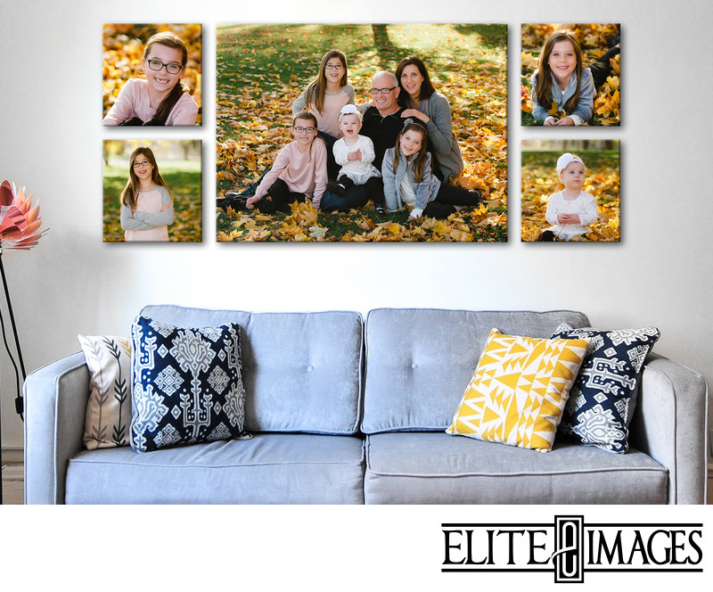 Family Portrait Wall Art Collage