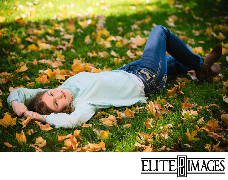 Fall Senior Pictures at Dubuque Arboretum