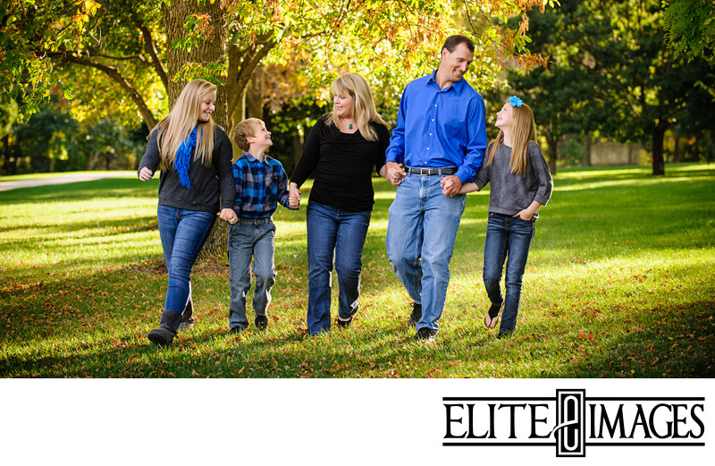 Family Portraits at Dubuque Arboretum in the Fall