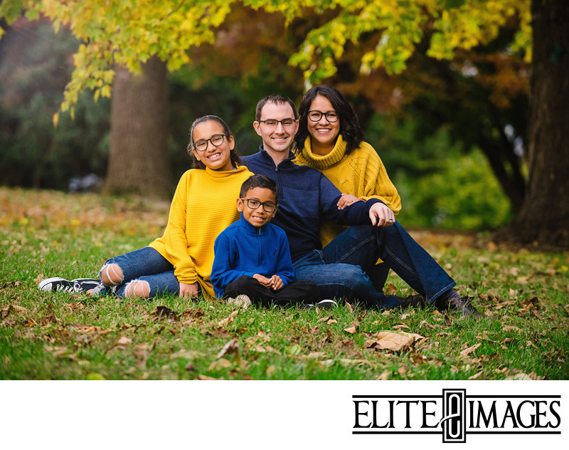 Fall Family Portraits Dubuque Photographer