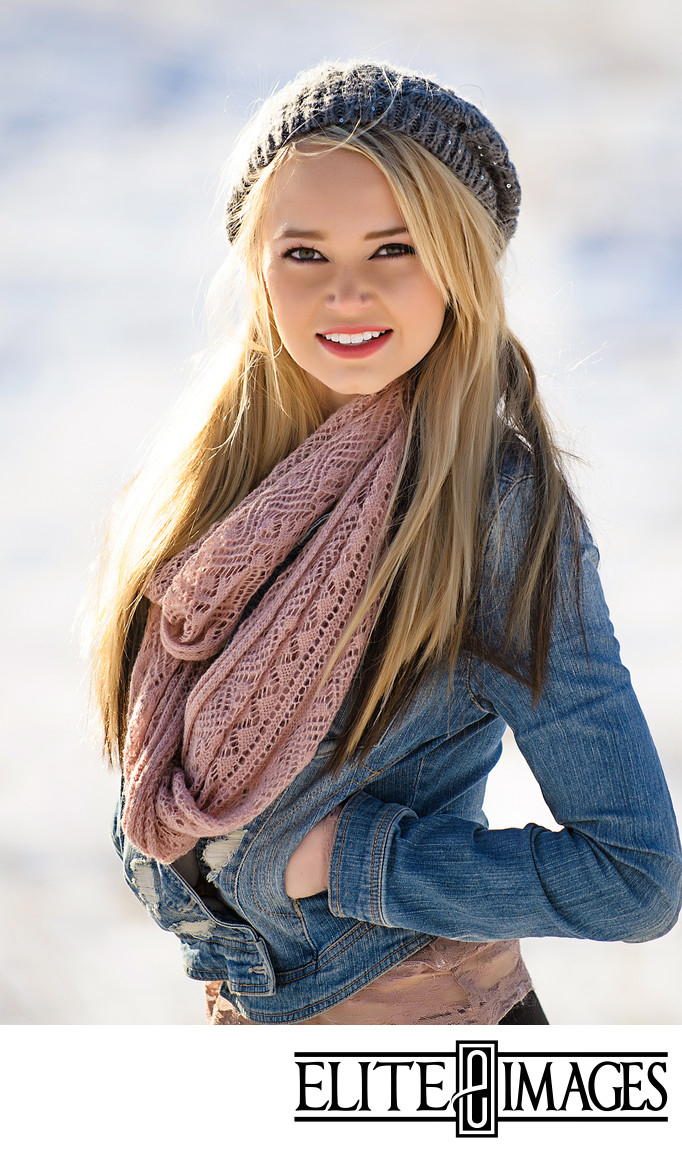 Winter Senior Portraits Dubuque