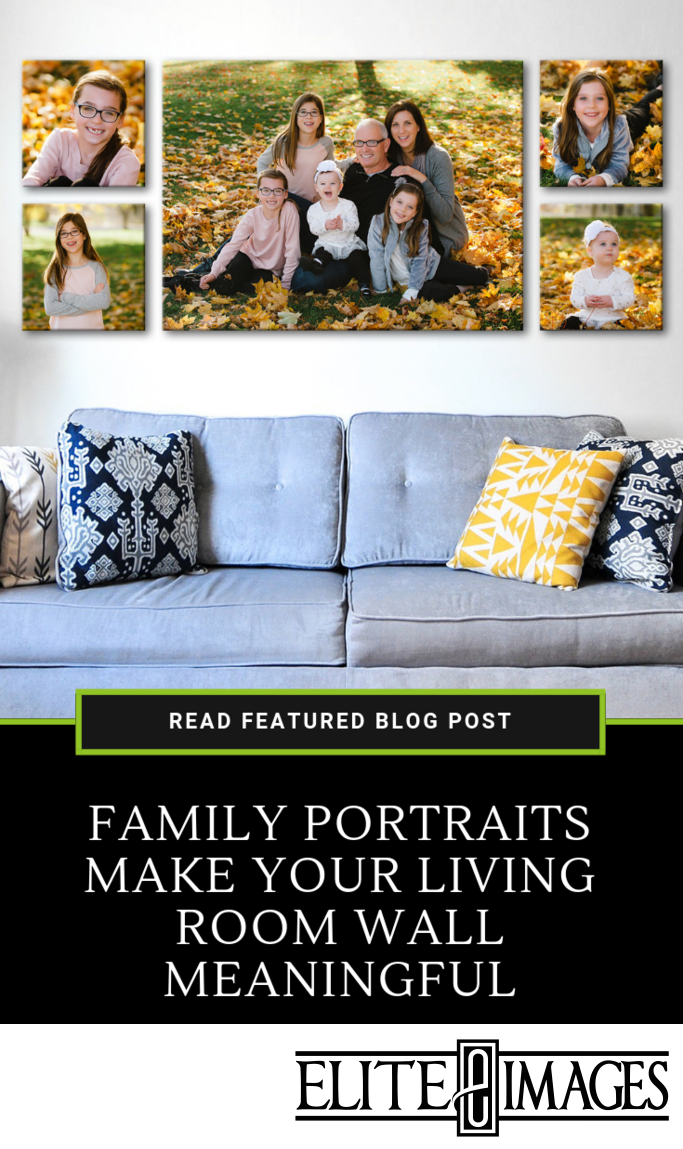 Family Portraits Make Your Living Room Wall Meaningful