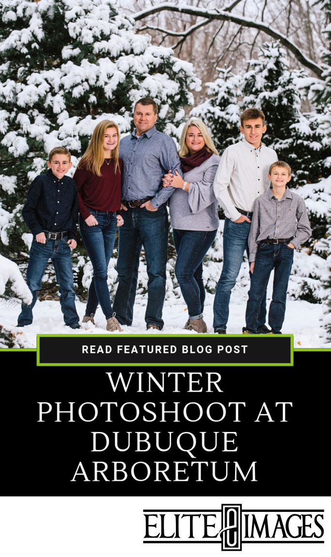 Winter Photoshoot at Dubuque Arboretum