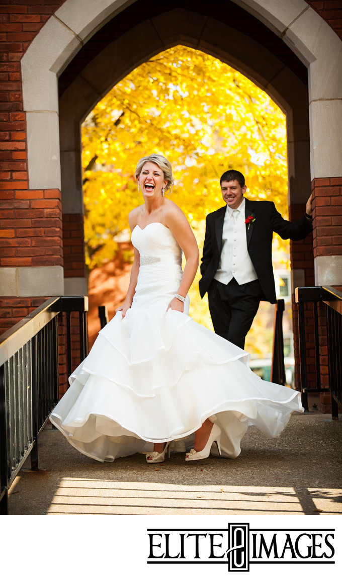 Fun Dubuque Wedding Photographers