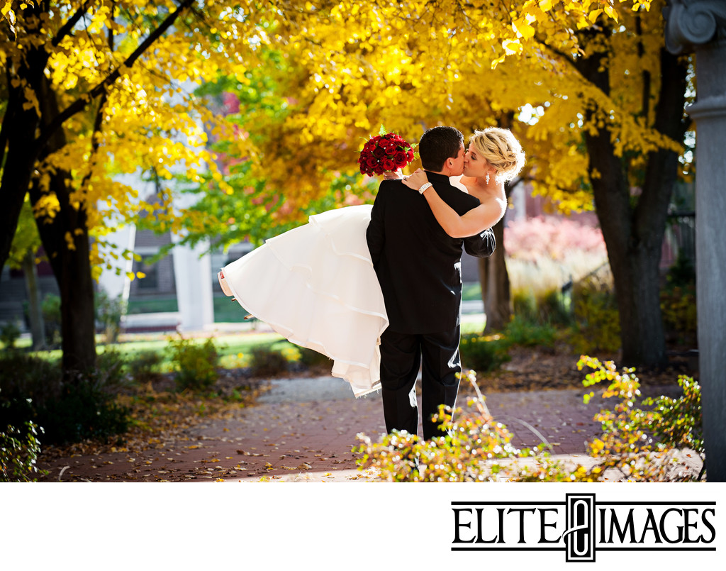 Fall Wedding Pictures in Dubuque