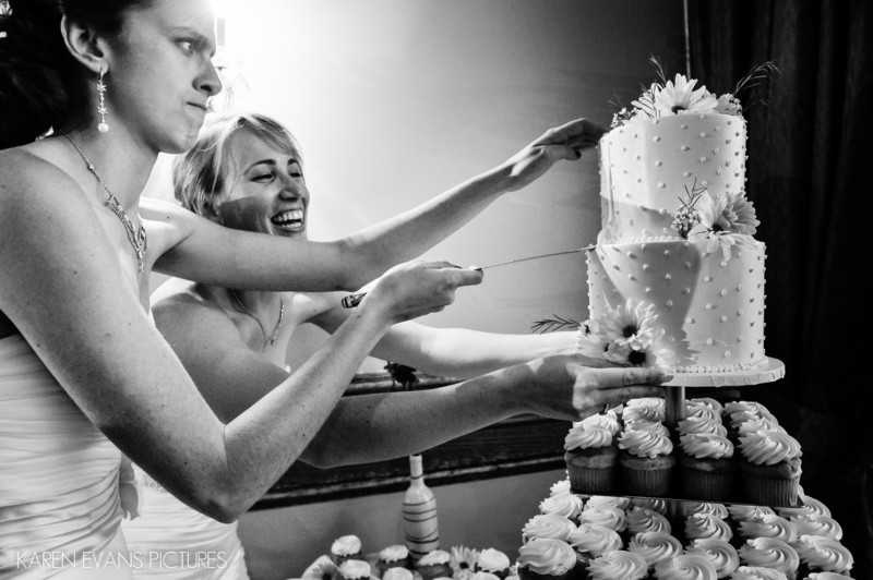 Cake Cutting at The Boathouse