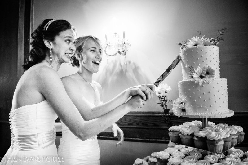 Wedding Cake Cutting The Boathouse
