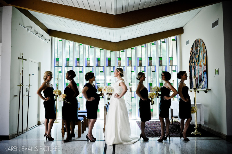 St. Mark's Episcopal Bridal Party Photography
